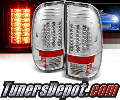 Sonar® LED Tail Lights (Chrome) - 99-07 Ford F-450 F450 (Gen 2)