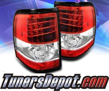 Sonar® LED Tail Lights (Red/Clear) - 02-05 Mercury Mountaineer