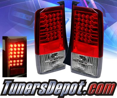 Sonar® LED Tail Lights (Red/Clear) - 03-07 Scion Xb