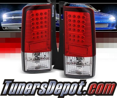 Sonar® LED Tail Lights (Red/Clear) - 03-07 Scion xB (Gen 2)