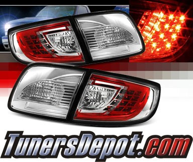 Sonar® LED Tail Lights (Red/Clear) - 03-08 Mazda 3 4dr