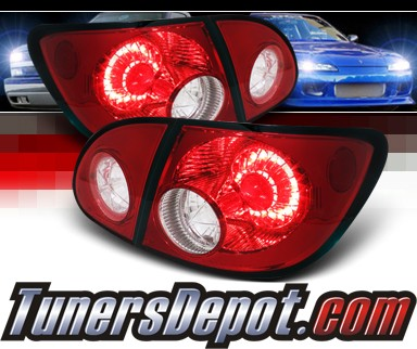 Sonar® LED Tail Lights (Red/Clear) - 03-08 Toyota Corolla