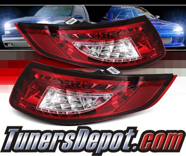 Sonar® LED Tail Lights (Red/Clear) - 05-08 Porsche 997