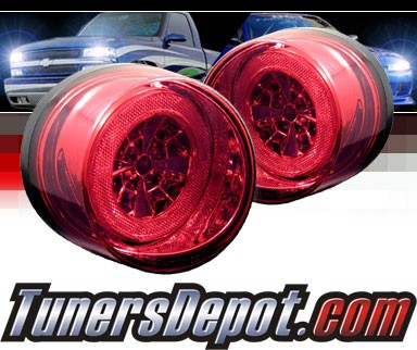 Sonar® LED Tail Lights (Red/Clear) - 05-10 Chevy Cobalt
