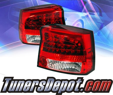2007 dodge charger sonar led tail lights red clear alt yd. Black Bedroom Furniture Sets. Home Design Ideas