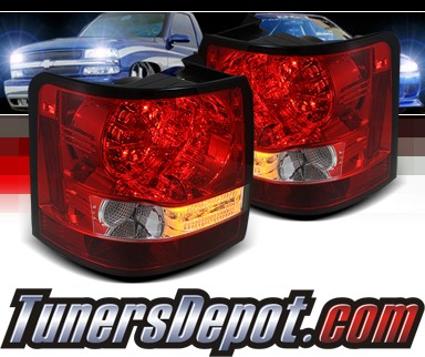 Sonar® LED Tail Lights (Red/Clear) - 06-09 Land Rover Range Rover Sport