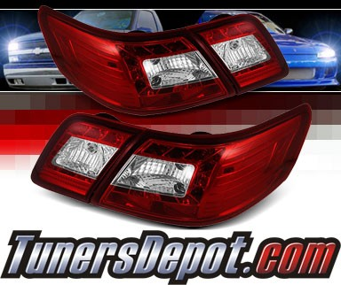 Sonar® LED Tail Lights (Red/Clear) - 07-09 Toyota Camry