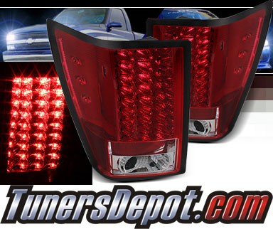Sonar® LED Tail Lights (Red/Clear) - 07-10 Jeep Grand Cherokee