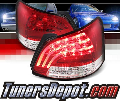 Sonar® LED Tail Lights (Red/Clear) - 07-11 Toyota Yaris 4dr