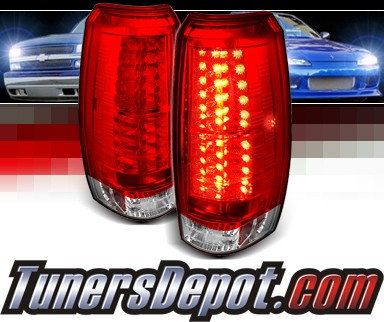 Sonar® LED Tail Lights (Red/Clear) - 07-12 Chevy Avalanche