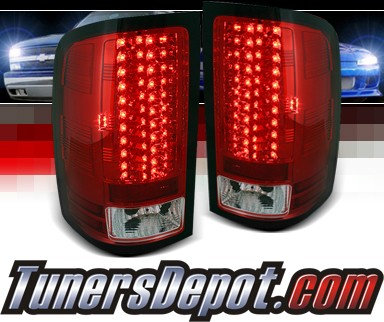 sonar led tail lights red clear 07 12 gmc sierra exc. Black Bedroom Furniture Sets. Home Design Ideas