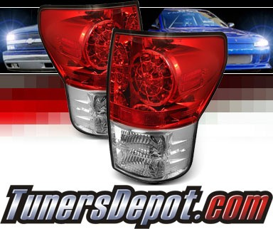 Sonar® LED Tail Lights (Red/Clear) - 07-12 Toyota Tundra