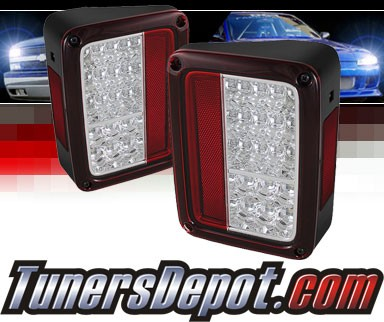 Sonar® LED Tail Lights (Red/Clear) - 07-14 Jeep Wrangler