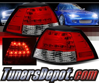 Sonar® LED Tail Lights (Red/Clear) - 08-09 Pontiac G8