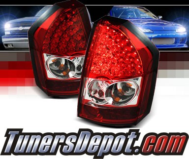Sonar® LED Tail Lights (Red/Clear) - 08-10 Chrysler 300C
