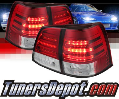 Sonar® LED Tail Lights (Red/Clear) - 08-11 Toyota Land Cruiser