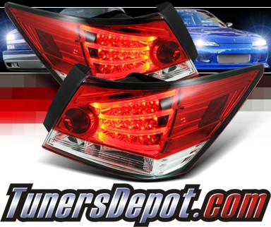 Sonar® LED Tail Lights (Red/Clear) - 08-12 Honda Accord 4dr