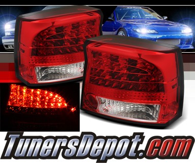 Sonar® LED Tail Lights (Red/Clear) - 09-10 Dodge Charger