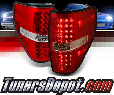 Sonar® LED Tail Lights (Red/Clear) - 09-13 Ford F150 F-150