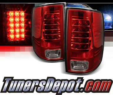 Sonar® LED Tail Lights (Red/Clear) - 09-16 Ram Pickup 1500