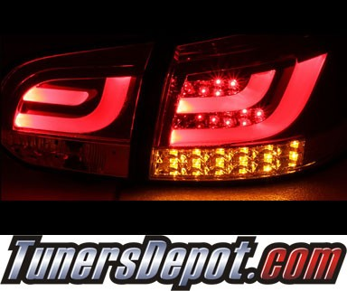 Sonar® LED Tail Lights (Red/Clear) - 10-12 VW Volkswagen Golf (Incl. GTI) (Gen 2)