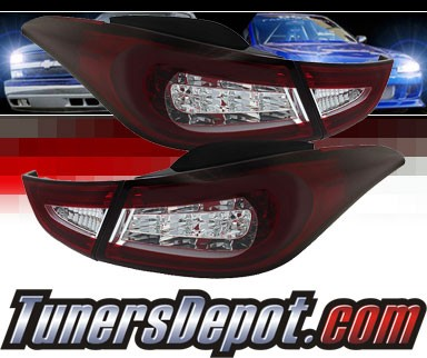 Sonar® LED Tail Lights (Red/Clear) - 11-13 Hyundai Elantra