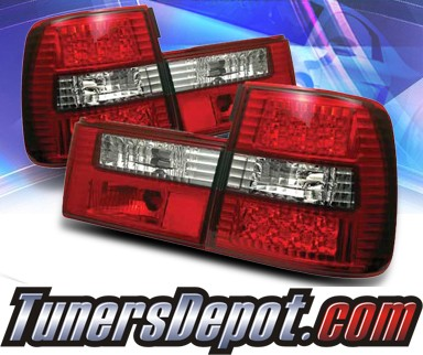 SonarR LED Tail Lights Red Clear