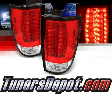 Sonar® LED Tail Lights (Red/Clear) - 97-02 Ford Expedition (Gen 2)
