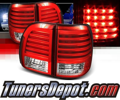 Sonar® LED Tail Lights (Red/Clear) - 98-02 Lexus LX470