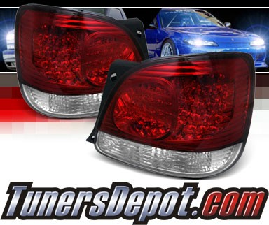 Sonar® LED Tail Lights (Red/Clear) - 98-05 Lexus GS300