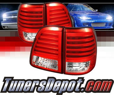 Sonar® LED Tail Lights (Red/Clear) - 98-05 Toyota Land Cruiser