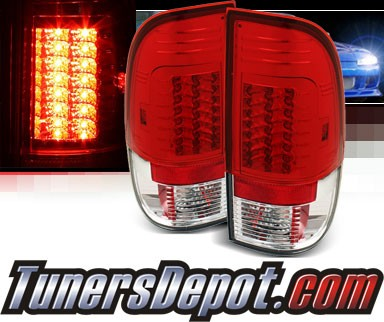 Sonar® LED Tail Lights (Red/Clear) - 99-07 Ford F-250 F250 (Gen 2)