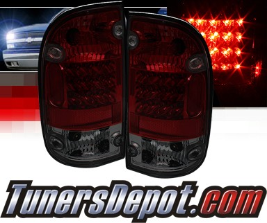 Sonar® LED Tail Lights (Red/Smoke) - 01-04 Toyota Tacoma