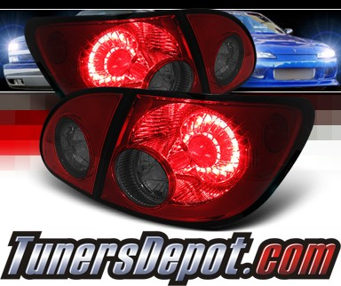 Sonar® LED Tail Lights (Red/Smoke) - 03-08 Toyota Corolla