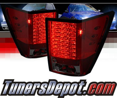 Sonar® LED Tail Lights (Red/Smoke) - 05-06 Jeep Grand Cherokee