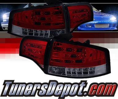 Sonar® LED Tail Lights (Red/Smoke) - 06-08 Audi A4 (Gen 2)
