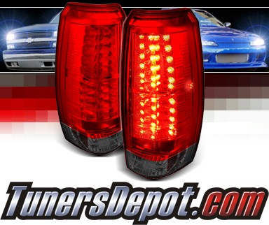 Sonar® LED Tail Lights (Red/Smoke) - 07-12 Chevy Avalanche