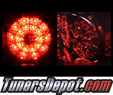 Sonar® LED Tail Lights (Red/Smoke) - 07-12 Toyota Tundra