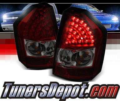 Sonar® LED Tail Lights (Red/Smoke) - 08-10 Chrysler 300C