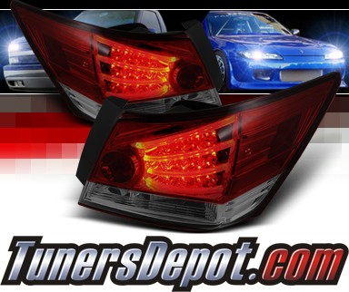 Sonar® LED Tail Lights (Red/Smoke) - 08-12 Honda Accord 4dr