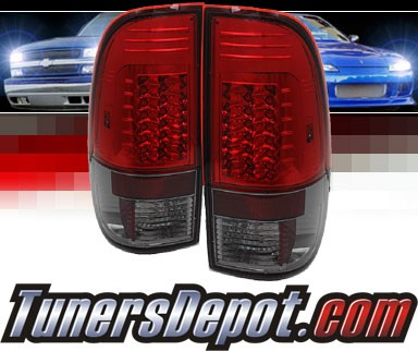 Sonar® LED Tail Lights (Red/Smoke) - 08-13 Ford F-350 F350 (Gen 2)