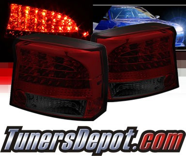 Sonar® LED Tail Lights (Red/Smoke) - 09-10 Dodge Charger