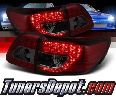 Sonar® LED Tail Lights (Red/Smoke) - 09-10 Toyota Corolla