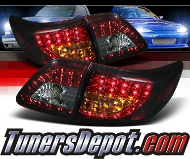 Sonar® LED Tail Lights (Red/Smoke) - 09-10 Toyota Corolla (w/ LED Signal)
