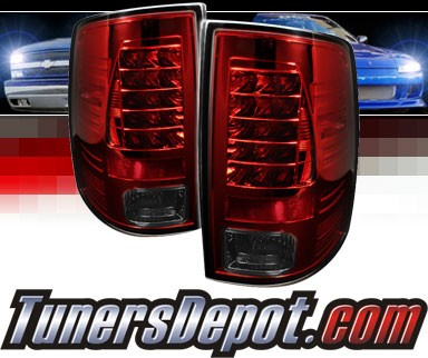 Sonar® LED Tail Lights (Red/Smoke) - 09-16 Ram Pickup 1500