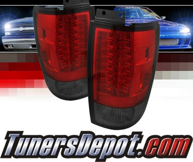Sonar® LED Tail Lights (Red/Smoke) - 97-02 Ford Expedition (Gen 2)