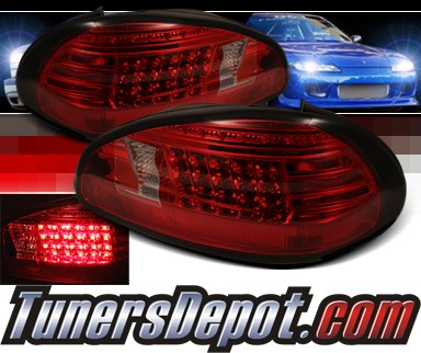 Sonar® LED Tail Lights (Red/Smoke) - 97-03 Pontiac Grand Prix