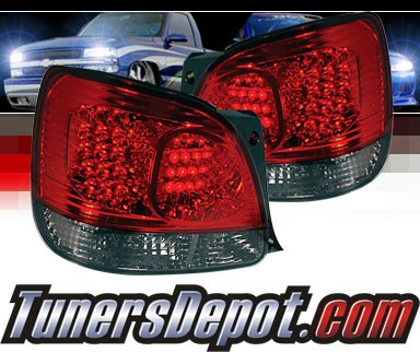 Sonar® LED Tail Lights (Red/Smoke) - 98-05 Lexus GS300
