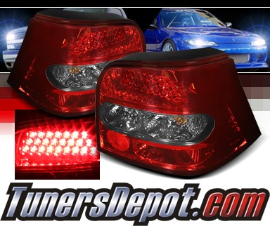 Sonar® LED Tail Lights (Red/Smoke) - 99-06 VW Volkswagen Golf IV