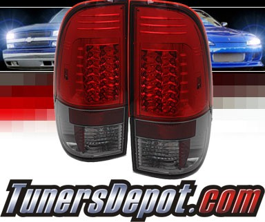 Sonar® LED Tail Lights (Red/Smoke) - 99-07 Ford F-350 F350 (Gen 2)